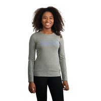 Grey Marle Long Sleeve T Shirt with Wordmark